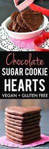 chocolate sugar cookie hearts