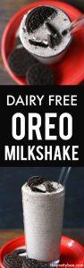 dairy free oreo milkshake