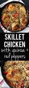 quinoa chicken skillet dinner