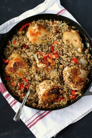 skillet chicken and quinoa