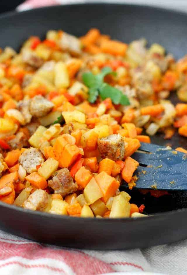 healthy sweet potato breakfast skillet recipe
