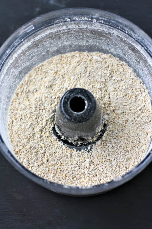 oat flour in a food processor