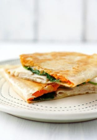 sweet potato turkey quesadilla