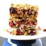 Blackberry Crumble Bars (Gluten Free, Vegan).