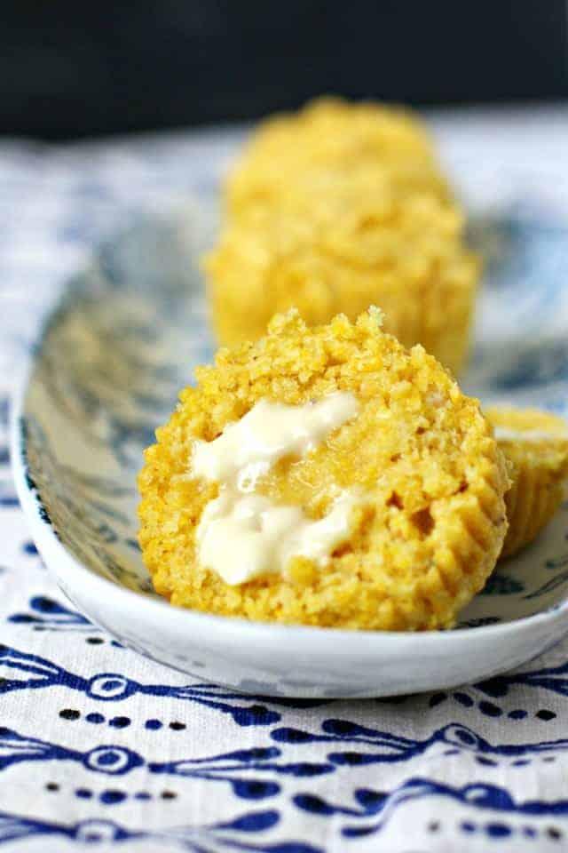 buttered vegan corn muffins