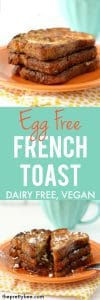 easy egg free french toast