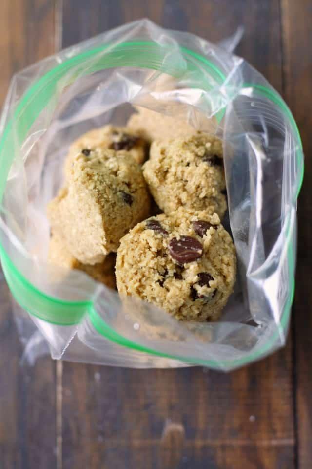 frozen oatmeal cookie dough