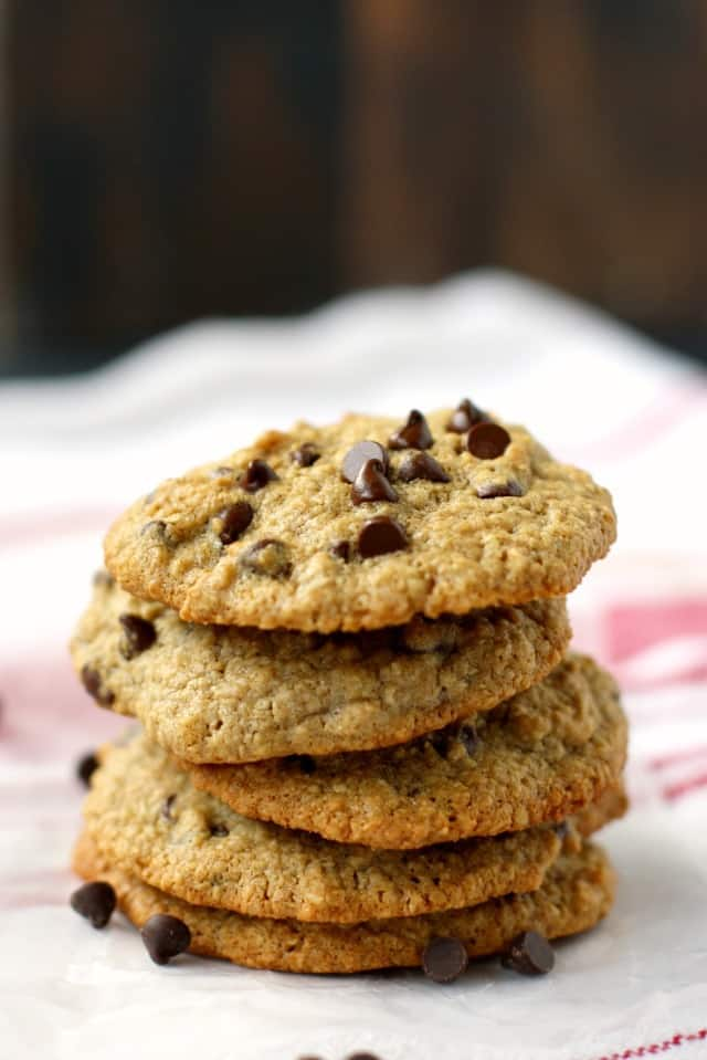 Oat Flour Chocolate Chip Cookies Gluten Free Vegan The