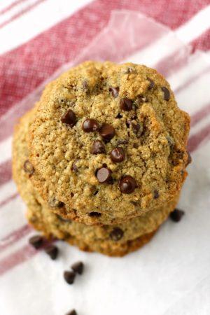 gluten free oat flour chocolate chip cookies