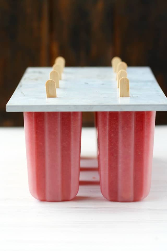 healthy fruit popsicles in popsicle mold