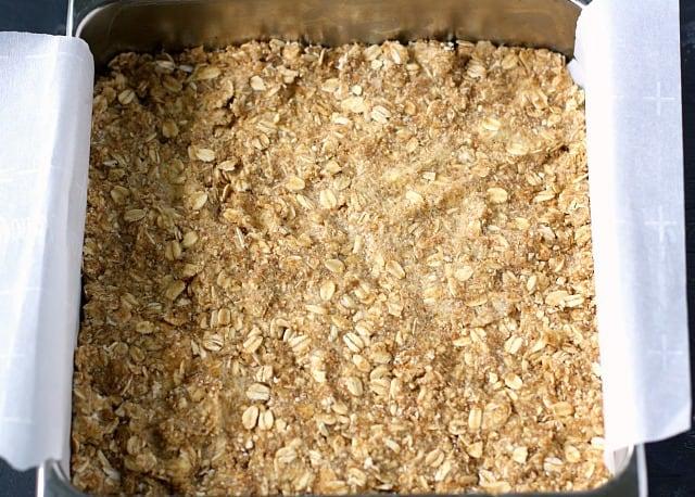 oat crust in pan