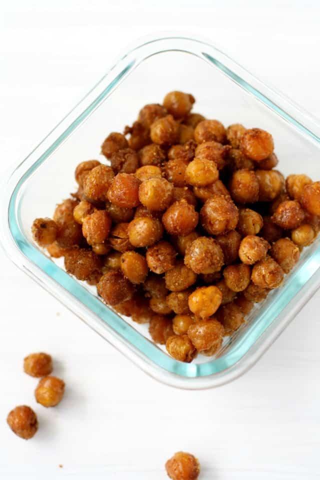 seasoned crunchy chickpeas