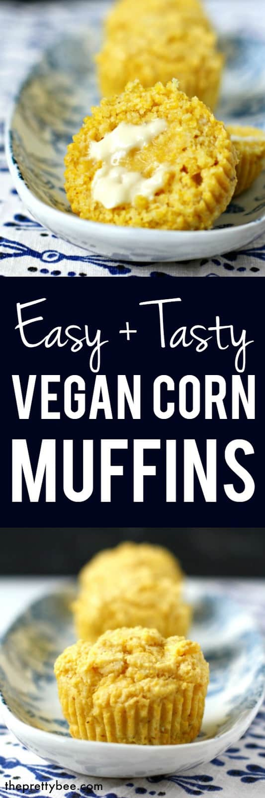 These vegan corn muffins are light and tasty, and just right for serving with some chili! #vegan #dairyfree #glutenfree #cornbread