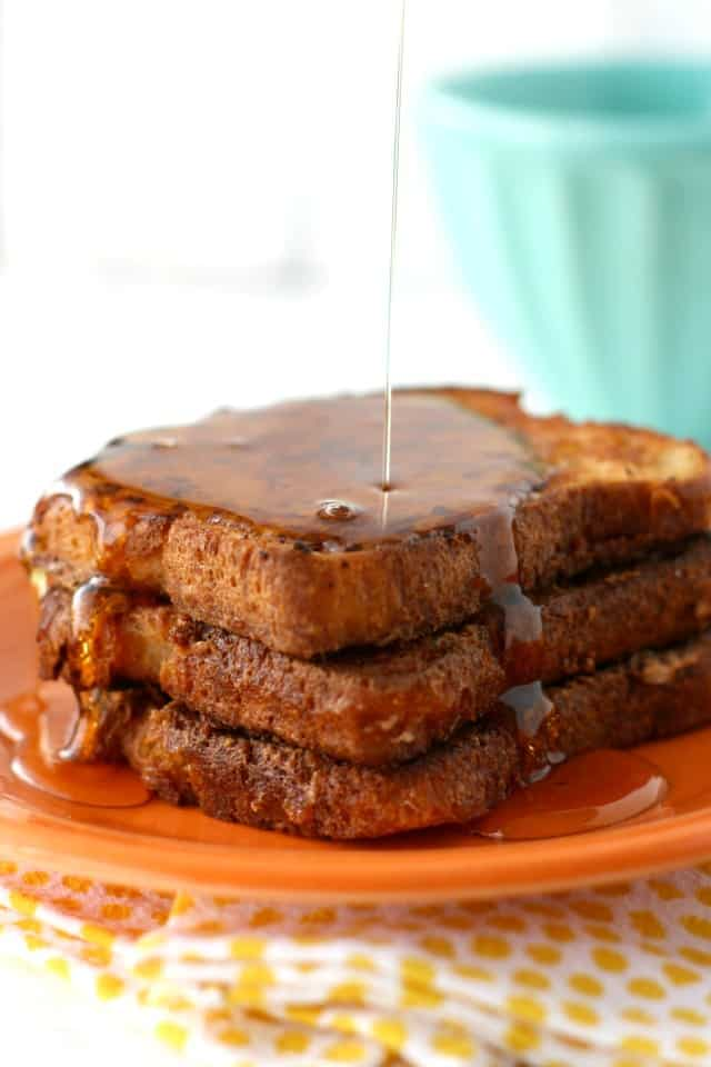 vegan french toast with syrup
