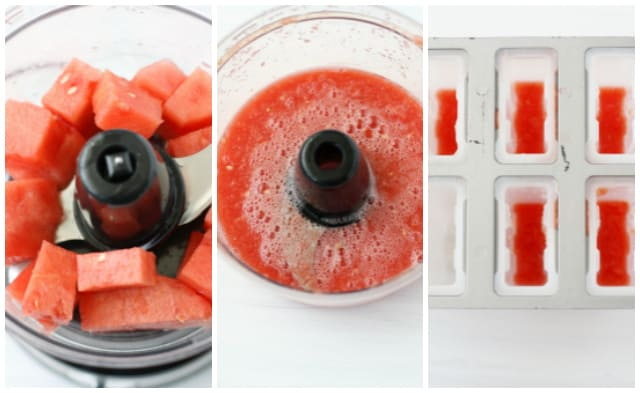 pureed watermelon for fruit popsicles