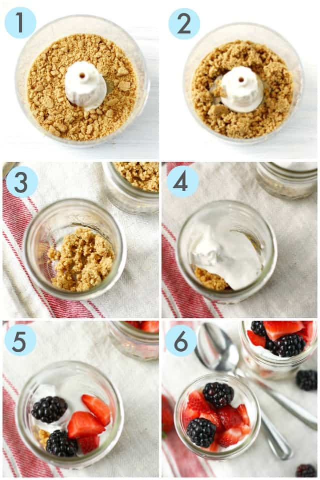 how to make a berry parfait step by step