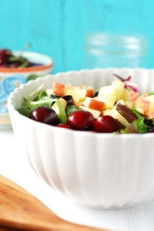summer salad with cherries