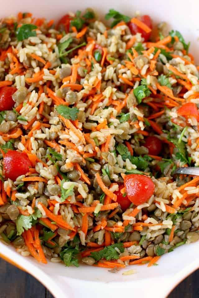gluten free vegan lentil salad
