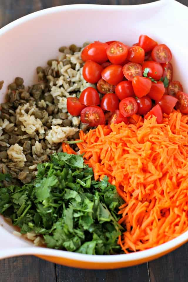 lentil salad ingredients