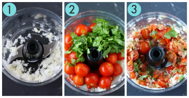 how to make cherry tomato salsa