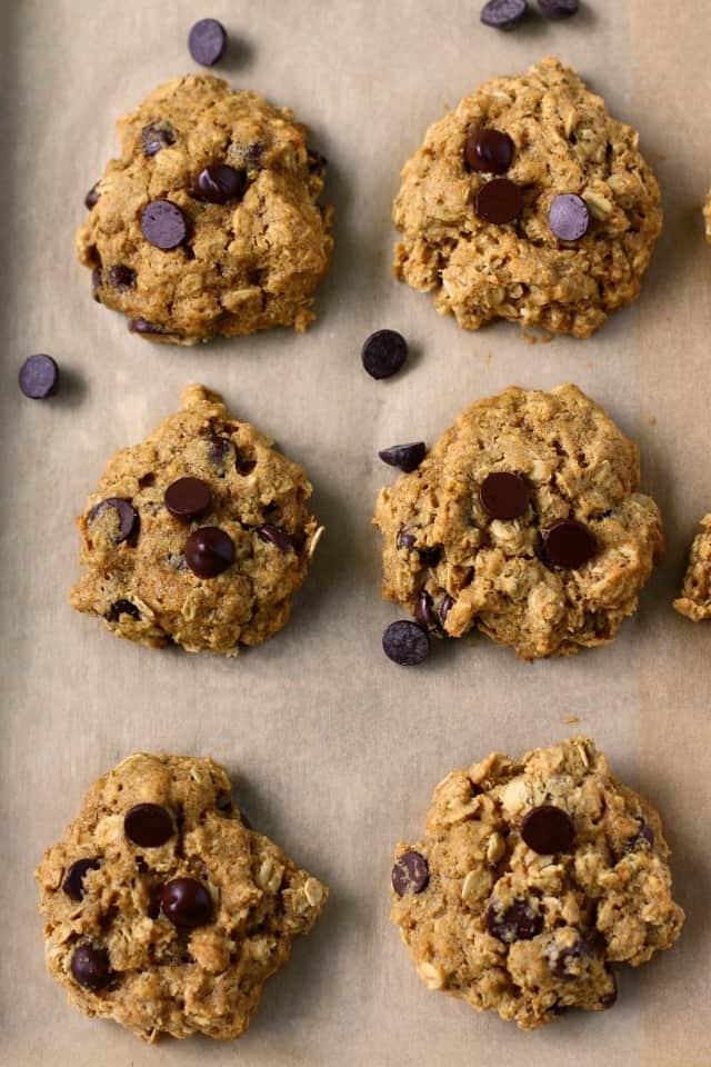 vegan pumpkin oatmeal cookies