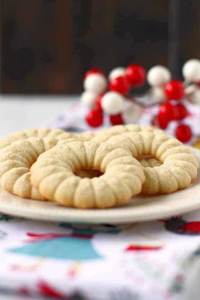 gluten free butter spritz cookies