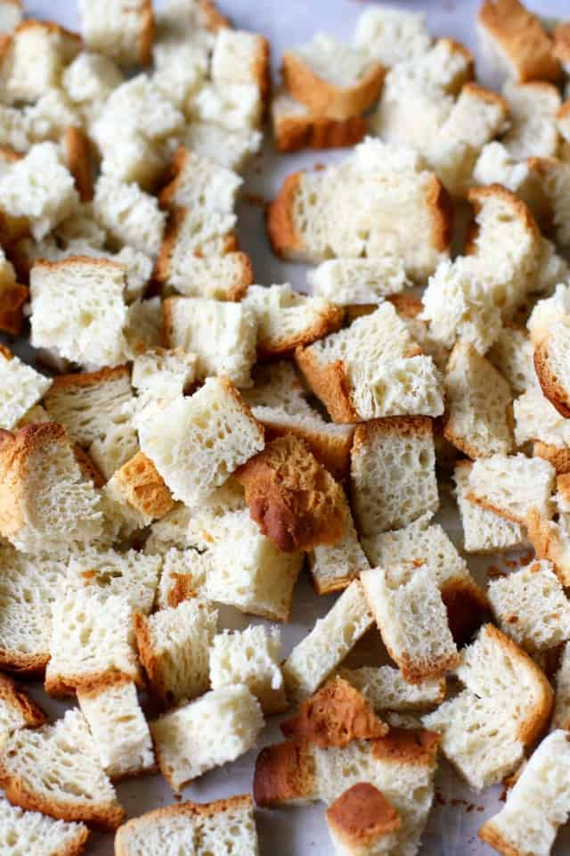 stuffing bread cubes