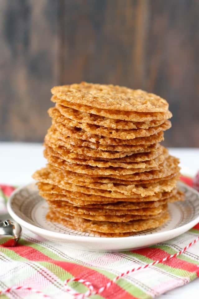 vegan oatmeal lace cookies