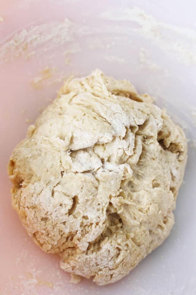 cinnamon roll dough rising