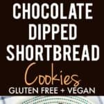 easy chocolate dipped shortbread