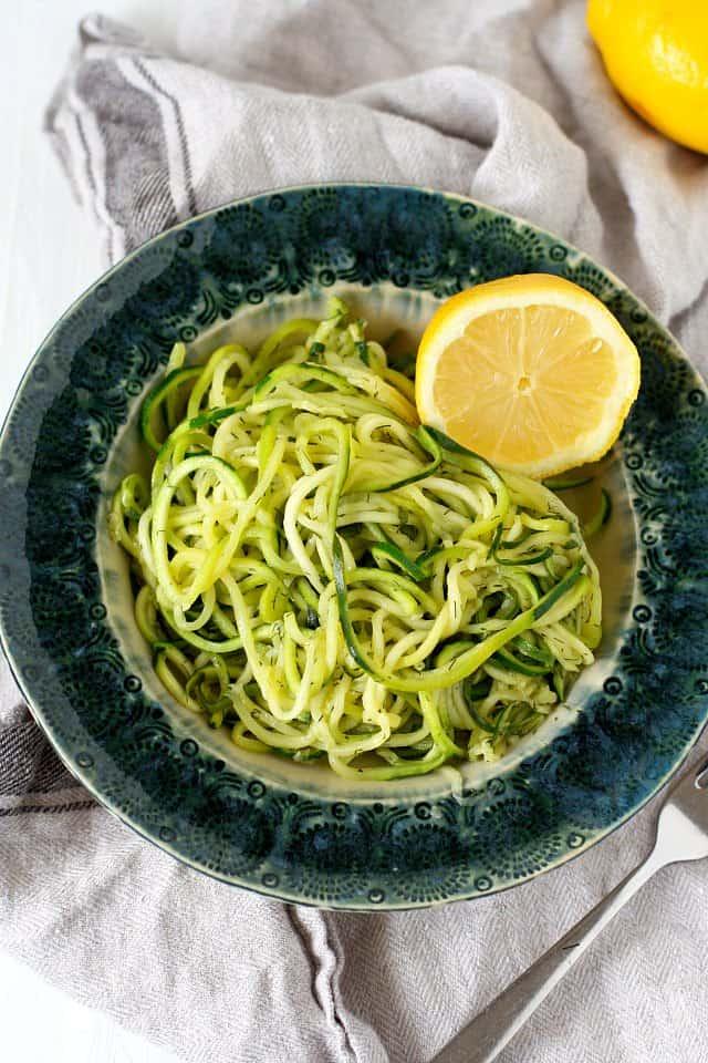 lemon dill zucchini noodles