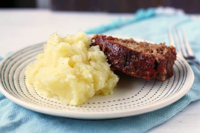 gluten free meatloaf and mashed potatoes