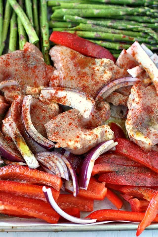 ingredients for chicken sheet pan dinner recipe