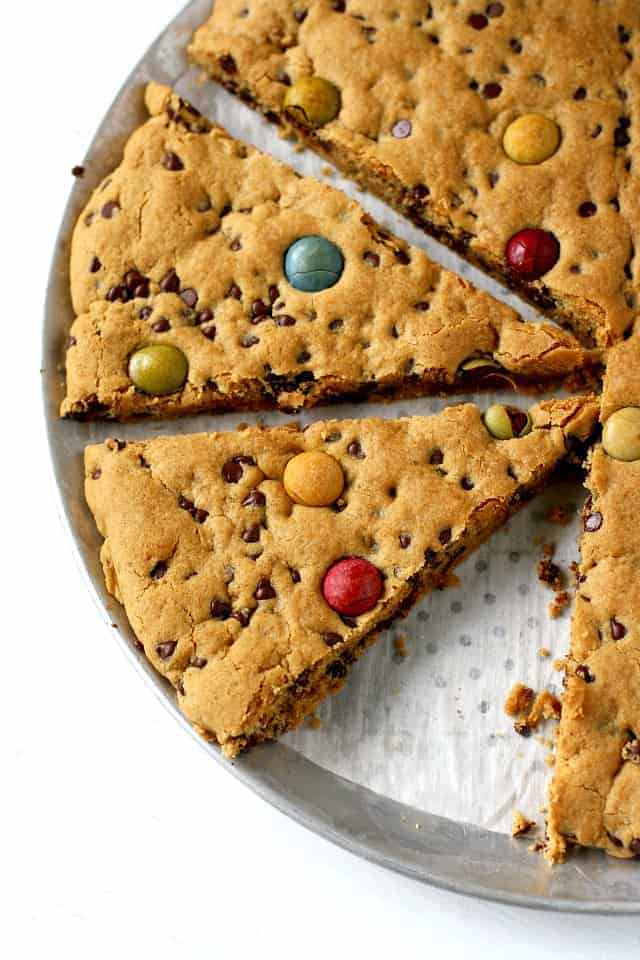 gluten free vegan giant chocolate chip cookie