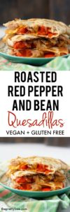 pepper and bean quesadillas