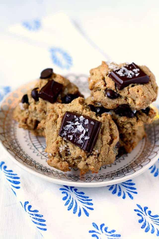 chocolate chunk quinoa flour cookies