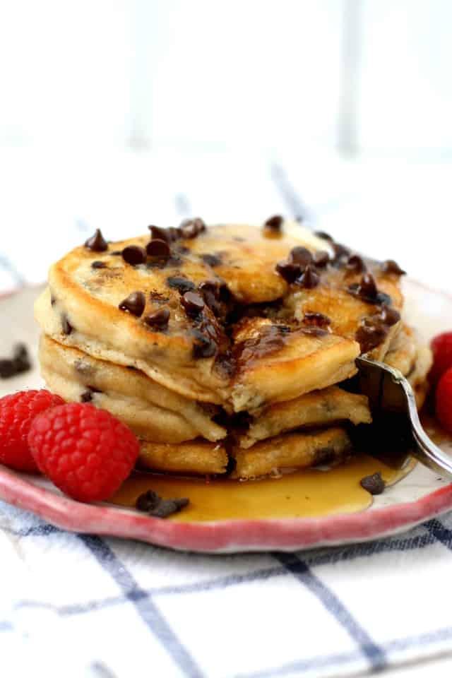 easy chocolate chip pancakes