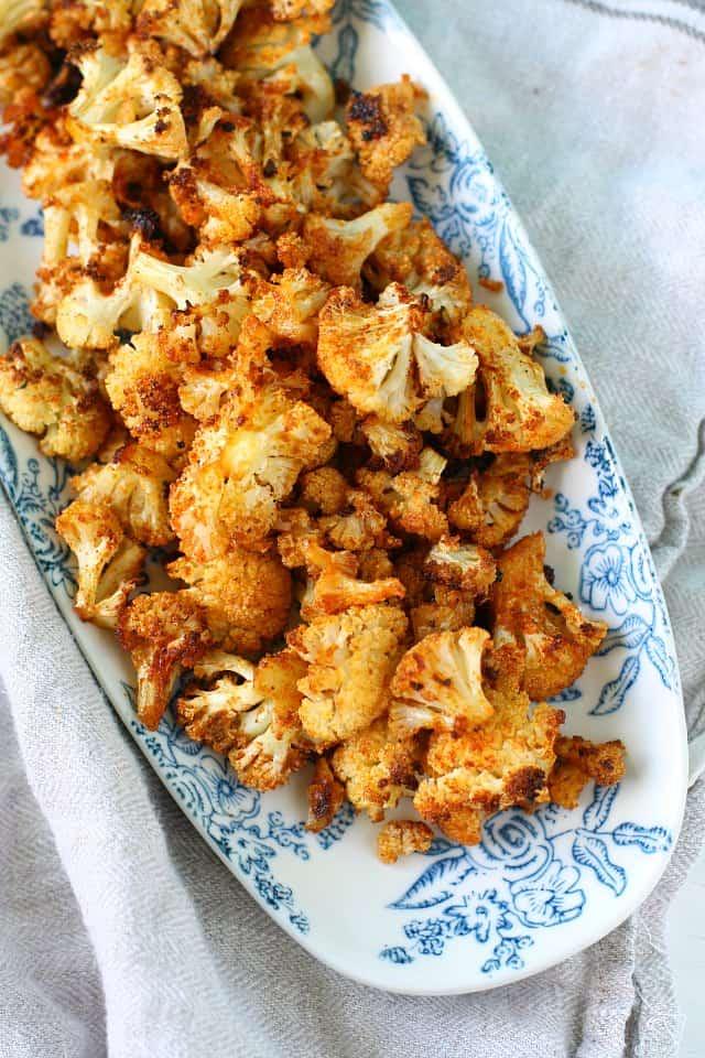 seasoned roasted cauliflower
