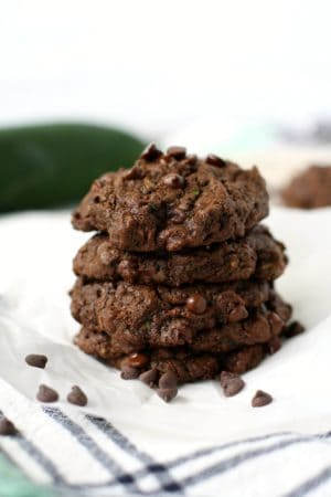 double chocolate zucchini cookies