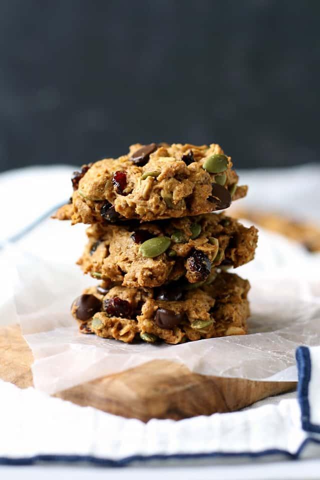 pumpkin oatmeal breakfast cookies