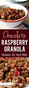 the best chocolate raspberry granola
