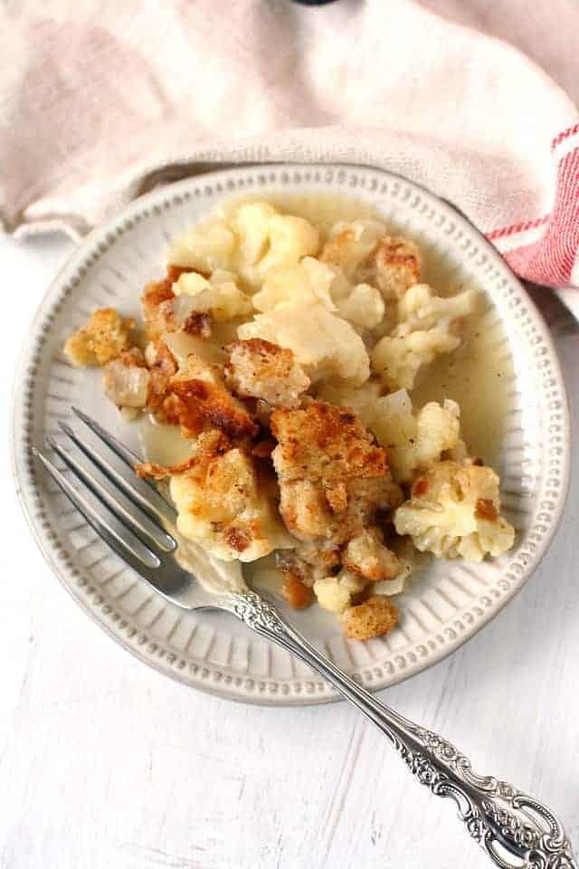 cauliflower casserole with breadcrumbs