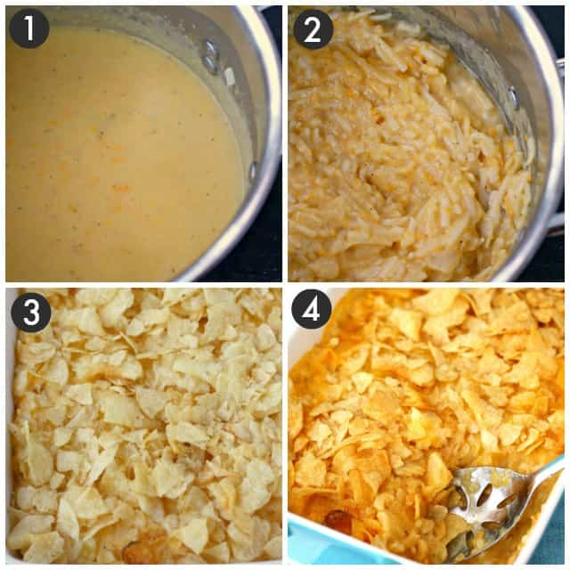 step by step photos for how to make gluten free cheesy potatoes