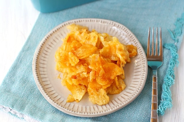 plate of gluten free potato casserole