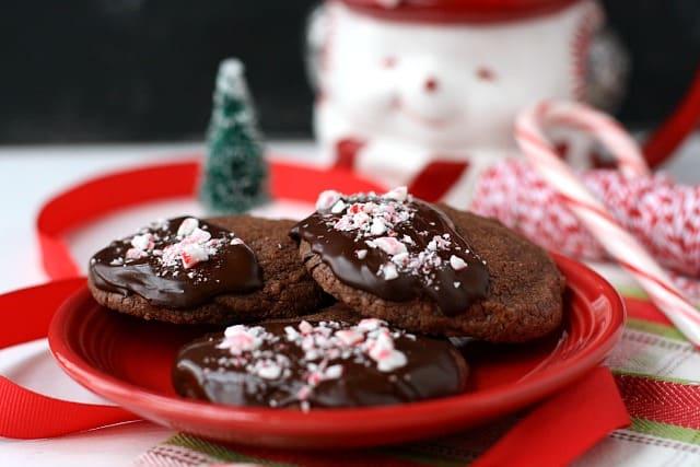 vegan chocolate slice and bake shortbread
