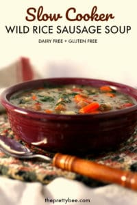 easy slow cooker wild rice veggie soup