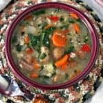 slow cooker wild rice sausage soup
