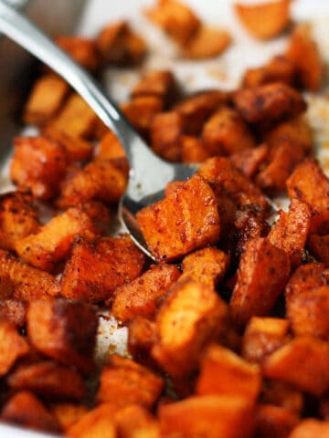 best seasoned roasted sweet potatoes