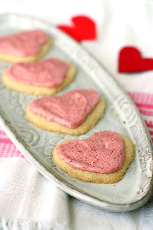 frosted gluten free sugar cookie hearts