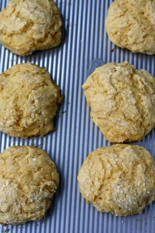 baked dairy free biscuits